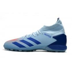 Chaussures de foot Adidas Predator 20.3 TF Bleu Gris