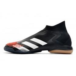 Chaussures de foot Adidas sans lacet Preator Mutator 20+ IN Noir Blanc Rouge