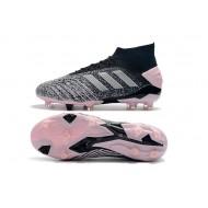 Chaussures de foot Crampons Adidas sans lacet Predator 19+ FG Archetic 25th Anniversaire Gris Argent Rose