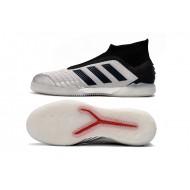 Chaussures de foot Adidas sans lacet Predator 19+ IN Argent Noir