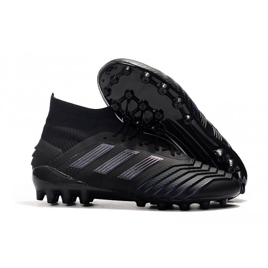Chaussures de foot Crampons Adidas Predator 19.1 AG Tout Noir