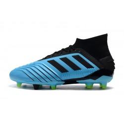 Chaussures de foot Crampons Adidas Predator 19.1 FG 25th Anniversaire Bleu Noir