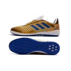 Chaussures de foot Adidas Predator 19.1 IC d'or Bleu