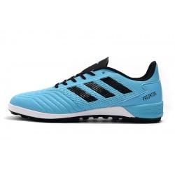 Chaussures de foot Adidas Predator 19.1 TF Bleu Noir