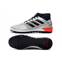Chaussures de foot Adidas Predator 19.3 TF Argent Noir