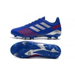 Chaussures de foot Crampons Adidas Predator 19.4 FG Bleu Argent
