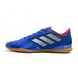 Chaussures de foot Adidas Predator 19.4 IN Bleu Argent