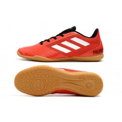 Chaussures de foot Adidas Predator 19.4 IN Rouge Blanc