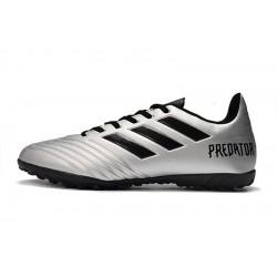 Chaussures de foot Adidas Predator 19.4 TF Argent Noir
