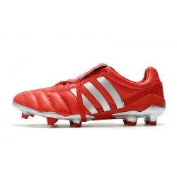 Chaussures de foot Crampons Adidas Predator Mania FG Classic Rouge Argent