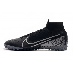 2020 Chaussures de footNike Mercurial Superfly 7 Elite MDS TF Flyknit Noir