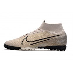 2020 Chaussures de footNike Mercurial Superfly 7 Elite MDS TF Flyknit Cream