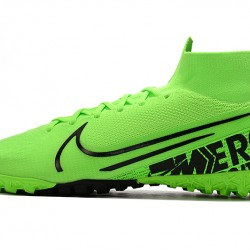 2020 Chaussures de footNike Mercurial Superfly 7 Elite MDS TF Flyknit Vert