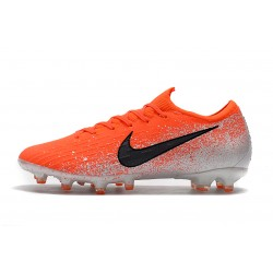 Chaussures de foot Crampons Nike Mercurial Vapor Fury VII Elite AG Orange Blanc