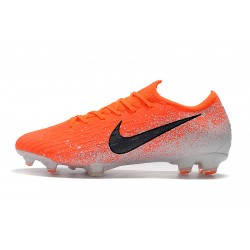 Chaussures de foot Crampons Nike Mercurial Vapor Fury VII Elite FG Orange Blanc