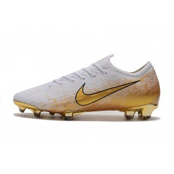 Chaussures de foot Crampons Nike Mercurial Vapor Fury VII Elite FG Blanc d'or