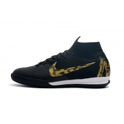 Chaussures de foot Nike SuperflyX 6 Elite IC Noir d'or