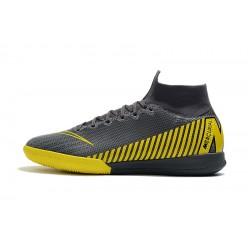 Chaussures de foot Nike SuperflyX 6 Elite IC Dark Gris Jaune