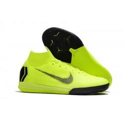 Chaussures de foot Nike SuperflyX 6 Elite IC Vert fluo