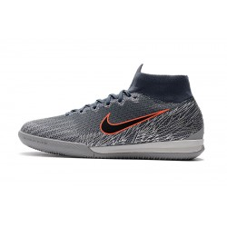 Chaussures de foot Nike SuperflyX 6 Elite IC Gris