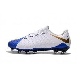 Chaussures de foot Crampons Nike Hypervenom Phantom III DF FG Bleu foncé Blanc