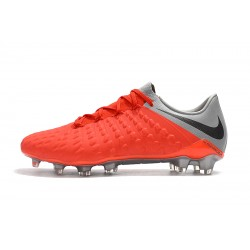Chaussures de foot Crampons Nike Hypervenom Phantom III DF FG Orange Argent