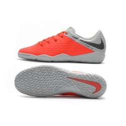 Chaussures de foot Nike Hypervenom Phantom Premium IC Orange Argent