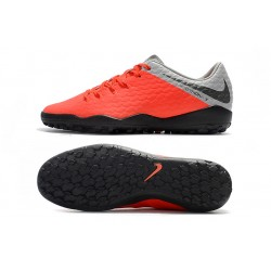 Chaussures de foot Nike Hypervenom Phantom Premium TF Orange Argent