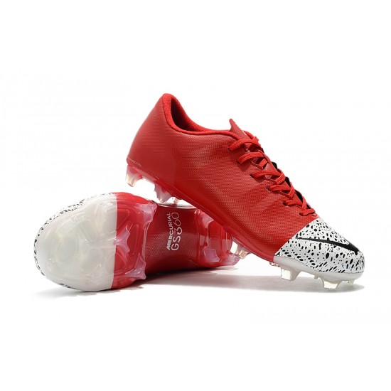 Chaussures de foot Crampons Nike Mercurial Superfly 360 GS FG Rouge Blanc