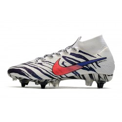 Chaussures de football Nike Mercurial Superfly 7 Elite Korea SG-PRO AC blanc rouge Bleu