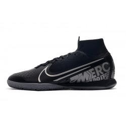 Chaussures de foot Nike Mercurial Superfly 7 Elite MDS IC Flyknit Noir