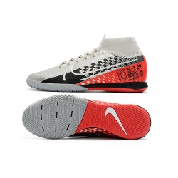 Chaussures de foot Nike Mercurial Superfly 7 Elite MDS IC Flyknit Argent Orange
