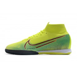 Chaussures de foot Nike Mercurial Superfly 7 Elite MDS IC Flyknit Jaune