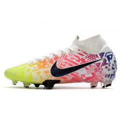 Chaussures de football Nike Mercurial Superfly 7 Elite Neymar Jr blanc Volt Bleu rouge Bleu
