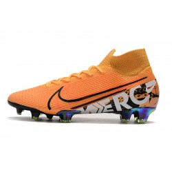 Chaussures de football Nike Mercurial Superfly 7 Elite SE FG - Laser Orange Noir