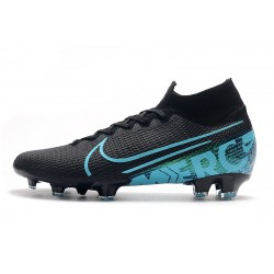 Chaussures de football Nike Mercurial Superfly 7 Elite SE FG Noir Bleu