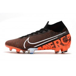 Chaussures de football Nike Mercurial Superfly 7 Elite SE FG Noir Orange blanc