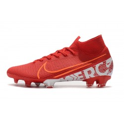 Chaussures de football Nike Mercurial Superfly 7 Elite SE FG rouge blanc