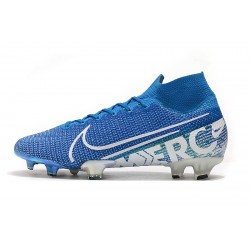 Chaussures de football Nike Mercurial Superfly 7 Elite SE FG New Lights Bleu blanc.jpg