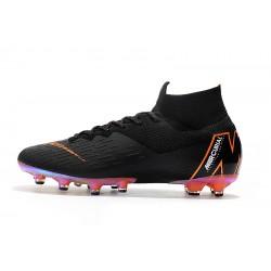 Chaussures de foot Crampons Nike Mercurial Superfly VI 360 Elite AG Noir