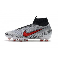 Chaussures de foot Crampons Nike Mercurial Superfly VI 360 Elite AG Gris Blanc Rouge