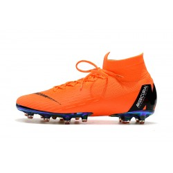 Chaussures de foot Crampons Nike Mercurial Superfly VI 360 Elite AG Orange