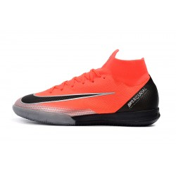 Chaussures de foot Nike Mercurial Superfly VI Flyknit 360 Elite CR7 IC MD Orange