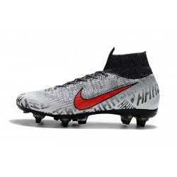 Chaussures de foot Crampons Nike Mercurial Superfly VI Flyknit 360 Elite SG Argent