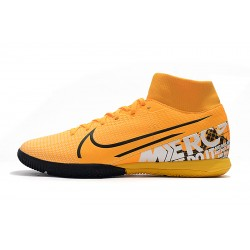 Chaussures de foot Nike Mercurial Superfly VII Academy IC Orange