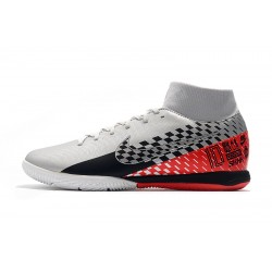 Chaussures de foot Nike Mercurial Superfly VII Academy IC Argent Rouge Noir