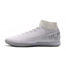 Chaussures de foot Nike Mercurial Superfly VII Academy IC Blanc