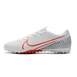 Chaussures de foot Nike Mercurial Vapor 13 Academy TF Blanc Rouge