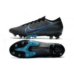 Chaussures de foot Crampons Nike Mercurial Vapor 13 Elite AG Flyknit 360 Bleu Noir