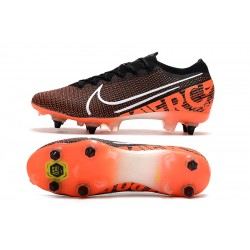 Chaussures de foot Crampons Nike Mercurial Vapor 13 Elite SG-PRO AC Noir Orange